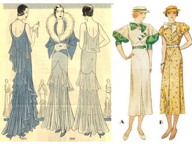 1930 moda: