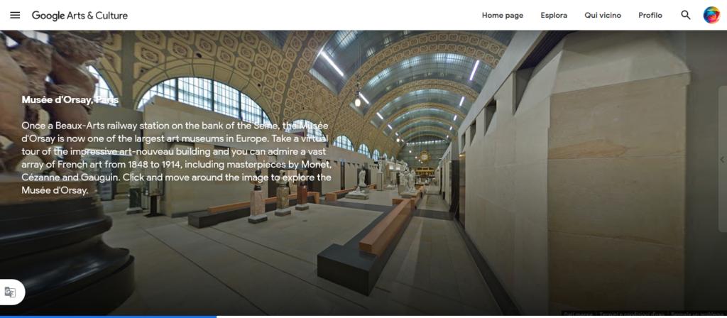 Google Arts&Culture  Orsay