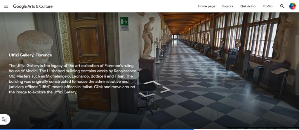 Google Arts&Culture Uffizi