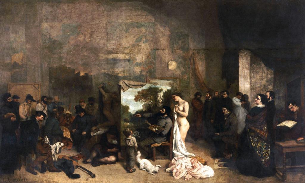L'opera di Courbet, il dipinto La bottega del pittore