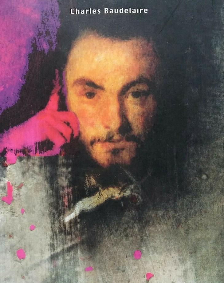 Dettaglio delle copertina della biografia letteraria su Baudelaire di Montesano