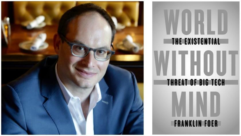 Immagine di Franklin Foer (autore) e la copertina originale del suo libro.