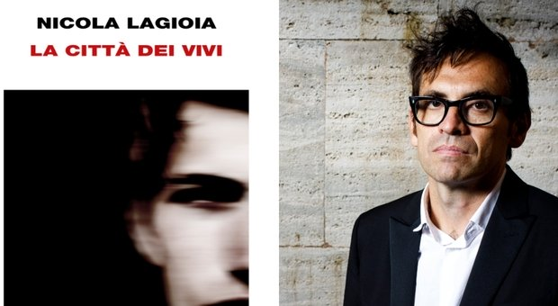 Dettaglio copertina libro di Nicola Lagioia e ritratto dello stesso