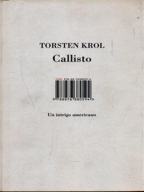 Copertina del romanzo Callisto in edizione ISBN