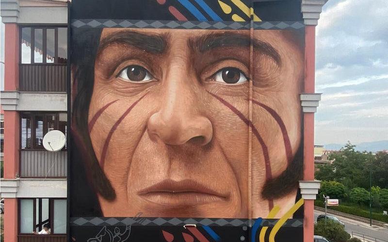Jorit omaggia  Simón Bolívar e il Venezuela
